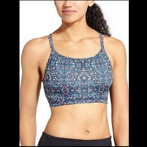 Athlete Blue Printed Sports Bra size Medium